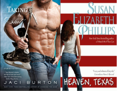 """Taking the Shot"" de Jaci Burton y ""Heaven, Texas"" de Susan Elizabeth Phillips"