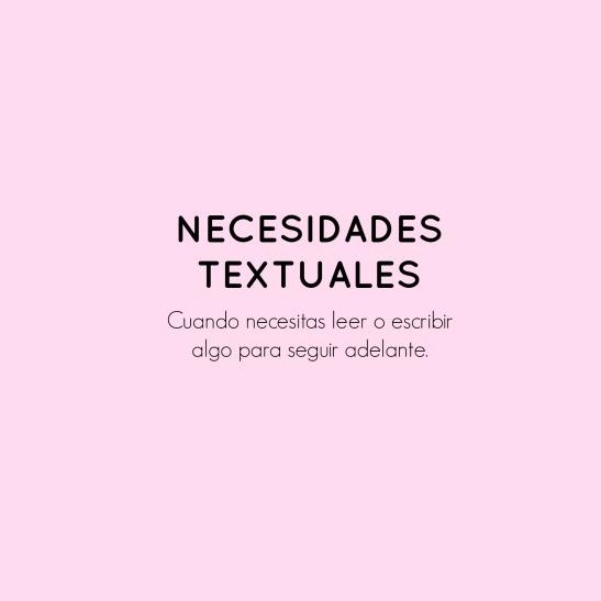 Necesidades textuales